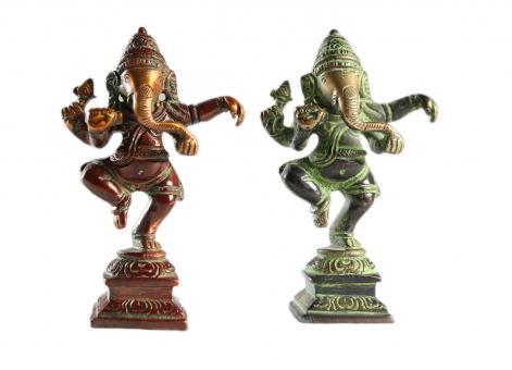 Ganesha aus Bronze Rot | 11 cm