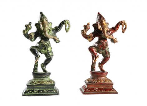 Ganesha aus Bronze Rot | 15 cm