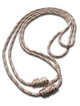 Yogataue - Seile Iyengar weiß & rot